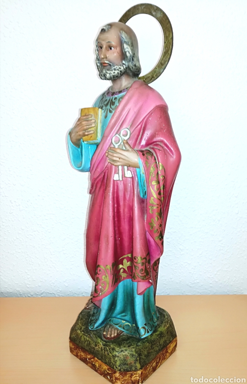 Arte: Figura San Pedro de Olot. 46 cm. - Foto 9 - 126390315