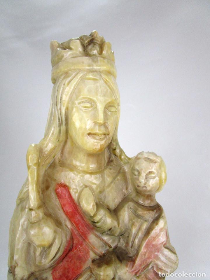 BESTIAL GRAN IMAGEN 50CM VIRGEN ESCULPIDA EN MARMOL MACIZO ESTILO GOTICA (Arte - Arte Religioso - Escultura)