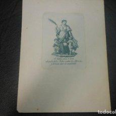 Arte: GRABADO SIGLO XVIII-XIX SANTA BIBIANA ABOGADA DE LOS NIÑOS CONTA LA ALFERECIA - RELIGION. Lote 126537079