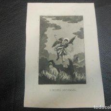 Arte: SIGLO XIX GRABADO DE SAN MIGUEL ARCANGEL - RELIGION. Lote 126585167