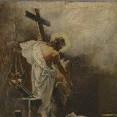 Arte: ANÓNIMO, POSIBLEMENTE ESCUELA SEVILLANA, RESURRECCIÓN DE CRISTO O JESÚS RESUCITADO. Lote 126589043