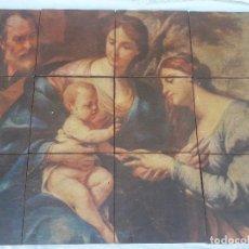 Arte: MOSAICO DE LOSAS HIDRAULICAS CON MOTIVO RELIGUIOSO . Lote 126624895