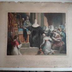 Arte: SACRIFICIO DE ELOISA - LITOGRAFIA FRANCESA - SIGLO XIX - ILUMINADA A MANO. Lote 126639379