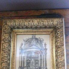 Arte: GRABADO SEDA VIRGEN DEL PILAR ZARAGOZA ENMARCADO (SILK, GOLD-FRAMED). Lote 126665159