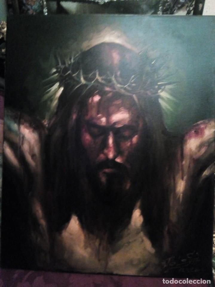 CRISTO CRUCIFICADO. JOLOGA. 73X60. ELIGE MARCO A TU GUSTO DE REGALO. (Arte - Arte Religioso - Pintura Religiosa - Oleo)