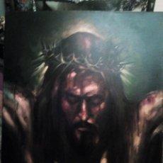 Arte: CRISTO CRUCIFICADO. JOLOGA. 73X60. ELIGE MARCO A TU GUSTO DE REGALO.. Lote 126695651