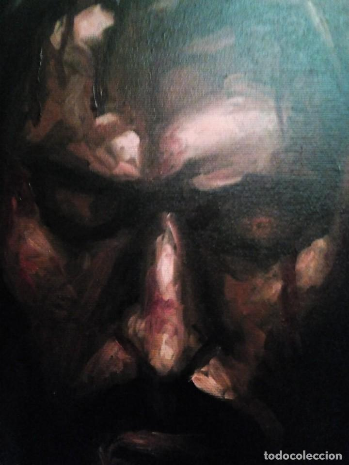 Arte: CRISTO CRUCIFICADO. JOLOGA. 73X60. ELIGE MARCO A TU GUSTO DE REGALO. - Foto 3 - 126695651