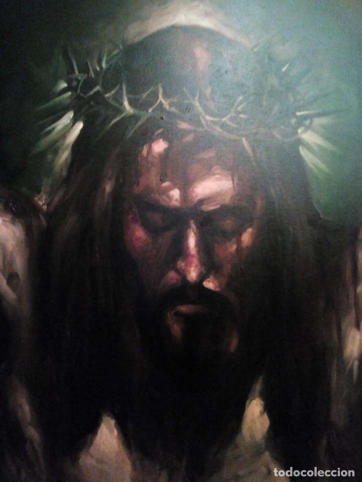 Arte: CRISTO CRUCIFICADO. JOLOGA. 73X60. ELIGE MARCO A TU GUSTO DE REGALO. - Foto 7 - 126695651