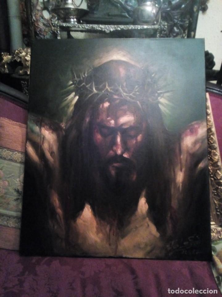Arte: CRISTO CRUCIFICADO. JOLOGA. 73X60. ELIGE MARCO A TU GUSTO DE REGALO. - Foto 9 - 126695651