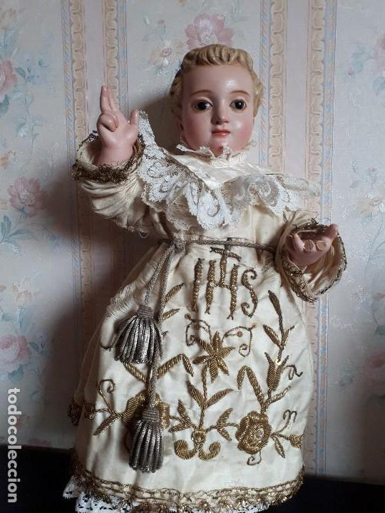 NIÑO JESUS TALLA DE MADERA S XIX (Arte - Arte Religioso - Escultura)