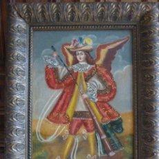 Arte: OLEO SOBRE LIENZO. ESCUELA CUZQUEÑA. ANGEL ARCABUCERO. CON MARCO. 42 X 51 CM. MEDIDAS CON MARCO. Lote 126858035