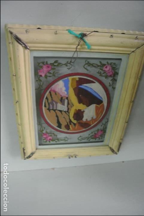 Arte: Cuadro. Cristal pintado. Virgen de Montserrat - Foto 5 - 127121547