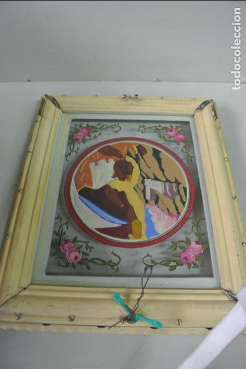 Arte: Cuadro. Cristal pintado. Virgen de Montserrat - Foto 7 - 127121547