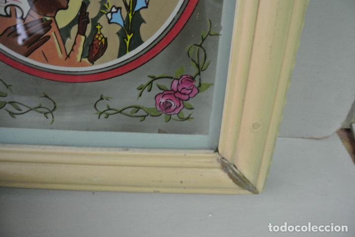 Arte: Cuadro. Cristal pintado. Virgen de Montserrat - Foto 8 - 127121547