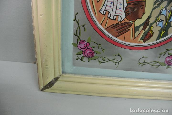 Arte: Cuadro. Cristal pintado. Virgen de Montserrat - Foto 9 - 127121547