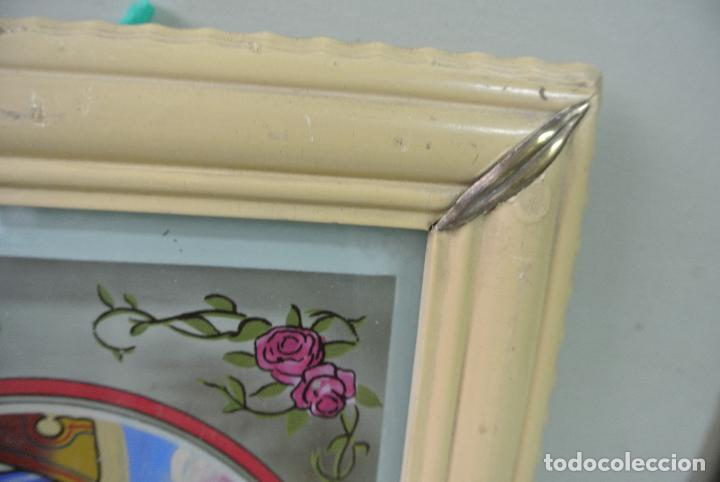 Arte: Cuadro. Cristal pintado. Virgen de Montserrat - Foto 10 - 127121547