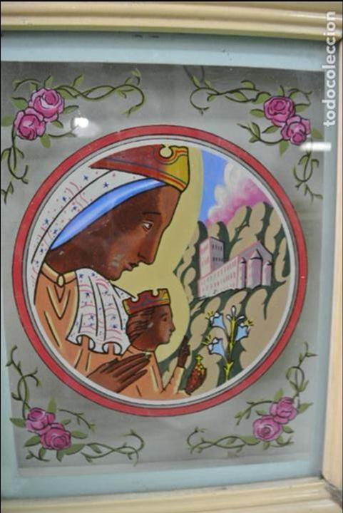 Arte: Cuadro. Cristal pintado. Virgen de Montserrat - Foto 12 - 127121547