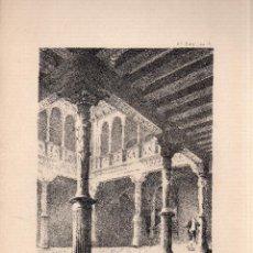 Arte: LITOGRAFIA. I. MONROS Y Cª. PATIO DE LA INFANTA, ZARAGOZA. LIT. J. ALEU. MEDIDAS : 32 X 22.. Lote 127203591