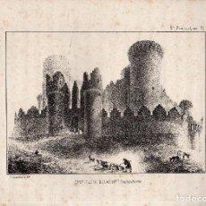 Arte: LITOGRAFIA. I. MONROS Y Cª. CASTILLO DE BELMONTE, CASTILLA LA NUEVA.. Lote 127208883