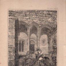 Arte: LITOGRAFIA. I. MONROS Y Cª. RESTOS DEL MONSTERIO DE CARRACEDO, VIERZO. LIT. LABIELLE.. Lote 127209859
