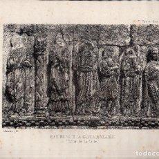 Arte: LITOGRAFIA. I. MONROS Y Cª. ESCULTURAS DE LA IGLESIA DE SANTIAGO. CARRION DE LOS CONDES. . Lote 127210311