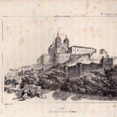 Arte: LITOGRAFIA. I. MONROS Y Cª. UCLES, CASA MATRIZ DE LA ORDEN DE SANTIAGO. CASTILLA LA NUEVA.. Lote 134857683