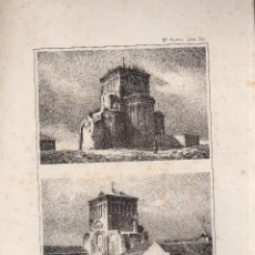 Arte: LITOGRAFIA. I. MONROS Y Cª. ABSIDE Y FRONTIS DE LA IGLESIA DE GOMEZ ROMA. AREVALO.. Lote 163608373