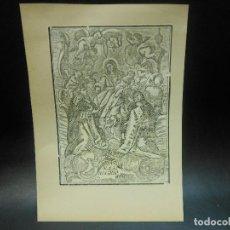 Arte: SIGLO XIX GRABADO XILOGRAFICO VIRGEN NUESTRA SEÑORA DEL ROSARIO - RELIGION. Lote 127446111