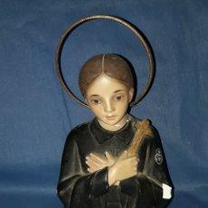 Arte: FIGURA BUSTO RELIGIOSA OJOS DE CRISTAL. Lote 144129570