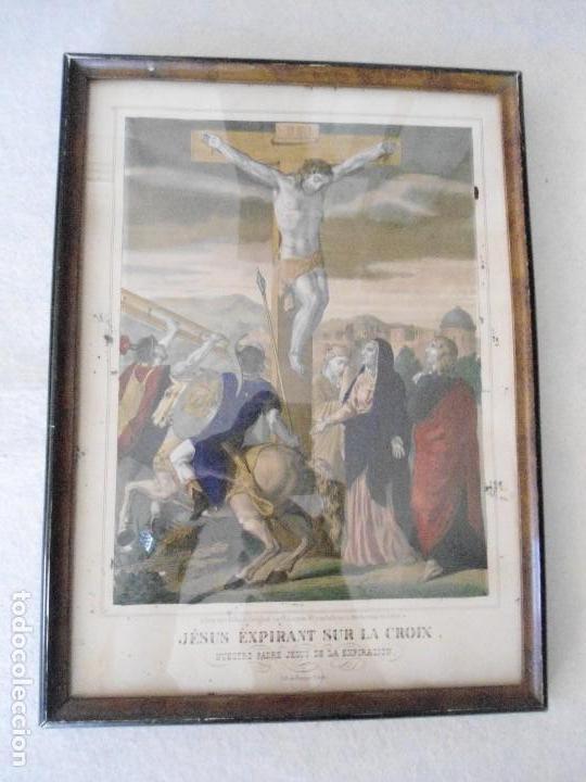 ANTIGUA LITOGRAFIA DE BECQUET FRERES (Arte - Arte Religioso - Litografías)