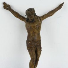 Arte: CRISTO EN MADERA TALLADA Y POLICROMADA ESCUELA ESPAÑOLA SIGLO XVII. Lote 127768895