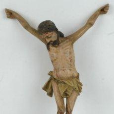 Arte: CRISTO EN MADERA TALLADA Y POLICROMADA ESCUELA ESPAÑOLA SIGLO XVII. Lote 127768903