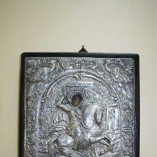 Arte: ANTIGUO ICONO RELIGIOSO PLATA DE LEY 950 - ARCÁNGEL SAN GABRIEL. Lote 127852447