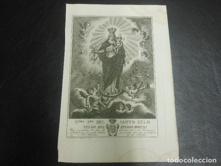1825 VIRGEN NUESTRA SEÑORA DEL SANTO ZELO - RELIGION GRABADO POR ROCAFORT (Arte - Arte Religioso - Grabados)