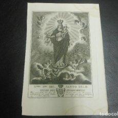 Arte: 1825 VIRGEN NUESTRA SEÑORA DEL SANTO ZELO - RELIGION GRABADO POR ROCAFORT. Lote 127917479