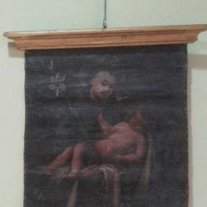Arte: SAN ANTONIO CON EL NIÑO. ÓLEO SOBRE LIENZO. SIGLO XVIII. PEQUEÑAS FALTAS EN LA PINTURA.. Lote 127919628