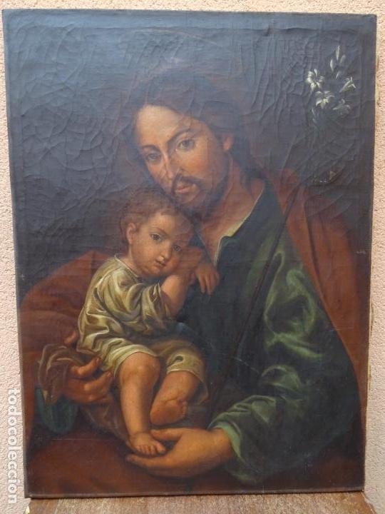 EXTRAORDINARIO ÓLEO SOBRE TELA DE FRANCISCO ENRÍQUEZ Y GARCIA(GRANADA 1771-1848)REALIZADO EN1845. (Arte - Arte Religioso - Pintura Religiosa - Oleo)