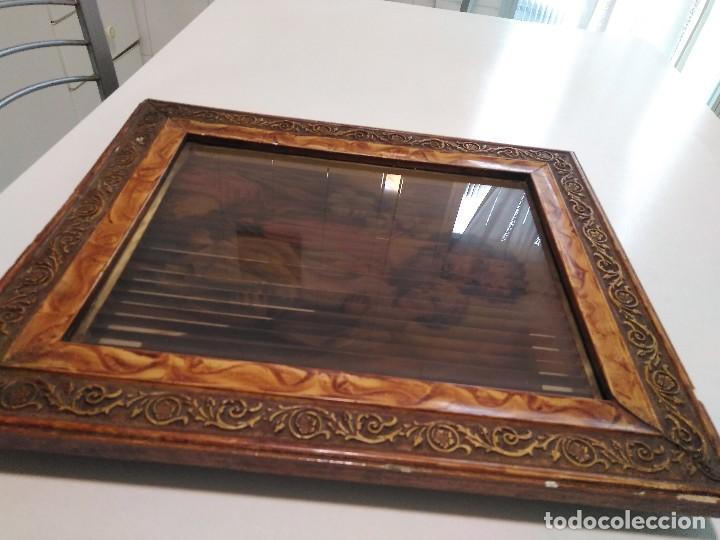 Arte: Antiguo cuadro religioso tridimensional - Foto 2 - 128051087