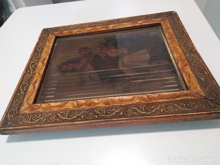 Arte: Antiguo cuadro religioso tridimensional - Foto 3 - 128051087