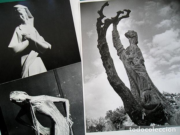 LAPAYESE - 6 FOTOGRAFÍAS DE ESCULTURAS DE RAMÓN LAPAYESE – COPIAS VINTAGE - CA.1960 (Arte - Arte Religioso - Escultura)