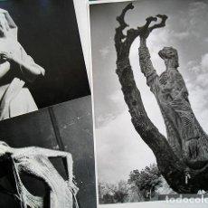 Arte: LAPAYESE - 6 FOTOGRAFÍAS DE ESCULTURAS DE RAMÓN LAPAYESE – COPIAS VINTAGE - CA.1960. Lote 128119823