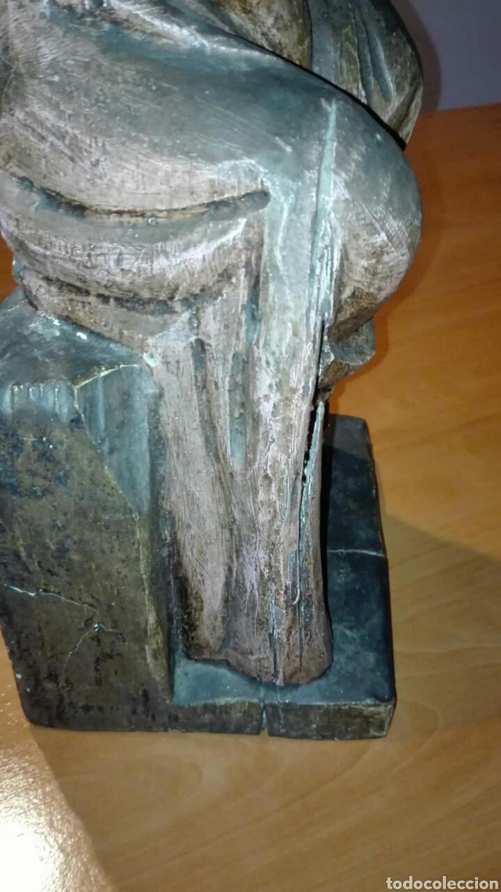Arte: Virgen con niño (Talla de madera policromada) - Foto 12 - 128121387