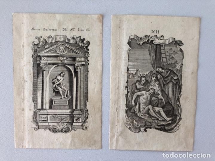 Arte: Lote de 10 grabados siglo XVIII . Religioso - Foto 3 - 128133571