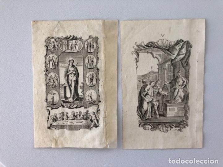 Arte: Lote de 10 grabados siglo XVIII . Religioso - Foto 4 - 128133571