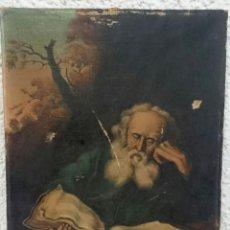 Arte: ANTIGUO ÓLEO SOBRE LIENZO DE SAN JERÓNIMO. FIRMADO POR L. QUEREJETA CIRCA 1892. 40X28CM.. Lote 128149691