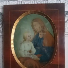 Arte: ANTIGUO ÓLEO BAJO CRISTA DE SANTA ANA. SIGLO XVIII, MARCO FERNANDINO.. Lote 128183359