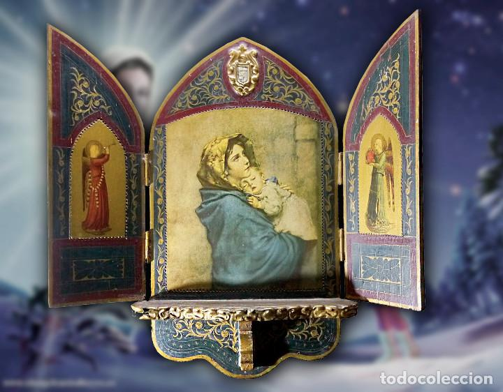 ANTIGUO TRÍPTICO DE LA MADONINNA, DE ROBERTO FERRUTZI (Arte - Arte Religioso - Trípticos)
