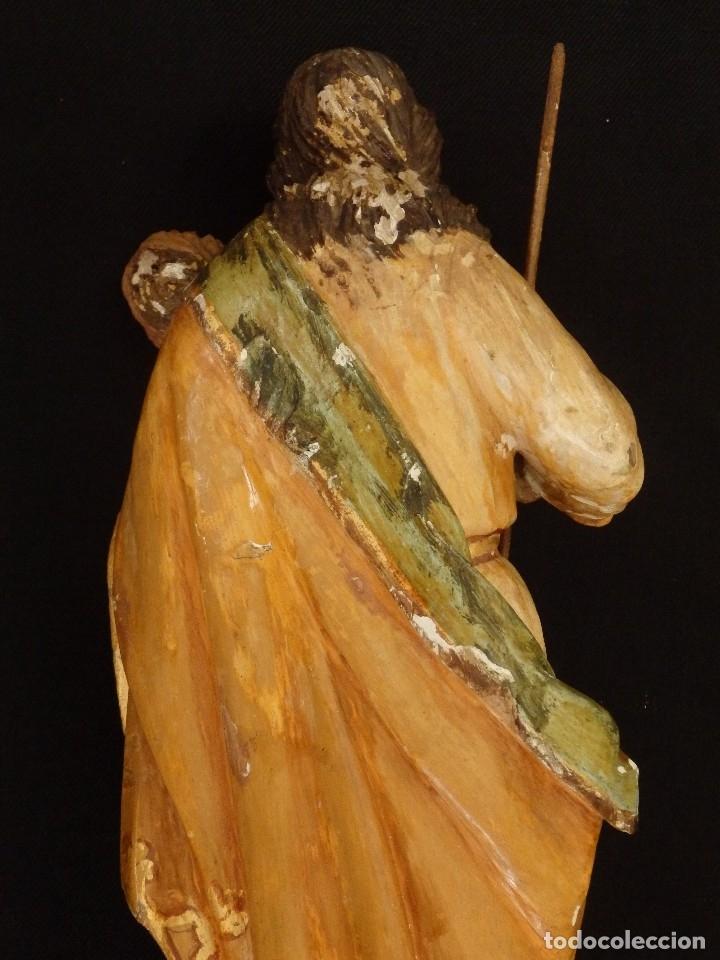 Arte: San José con el Niño Jesús. Madera tallada y policromada. 28 cm. Hacia 1900. - Foto 10 - 128387747