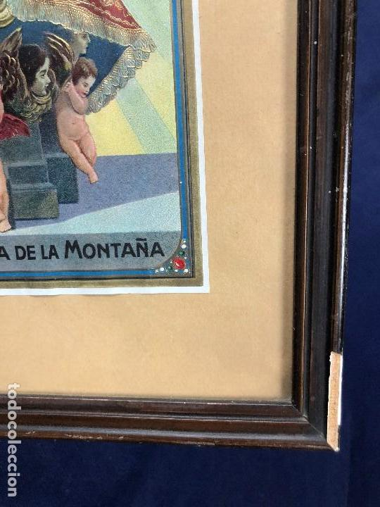 Arte: CROMOLITOGRAFIA DORADA TROQUELADA NUESTRA SEÑORA DE LA MONTAÑA ANGEL ANGELES PPIO S XX 35X26CMS - Foto 24 - 128437415
