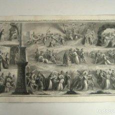 Arte: 44 CM . LAS 14 ESTACIONES DEL VIA CRUCIS - CALVARIO DE JESUS EN TIERRA SANTA . S.XIX. Lote 128481411